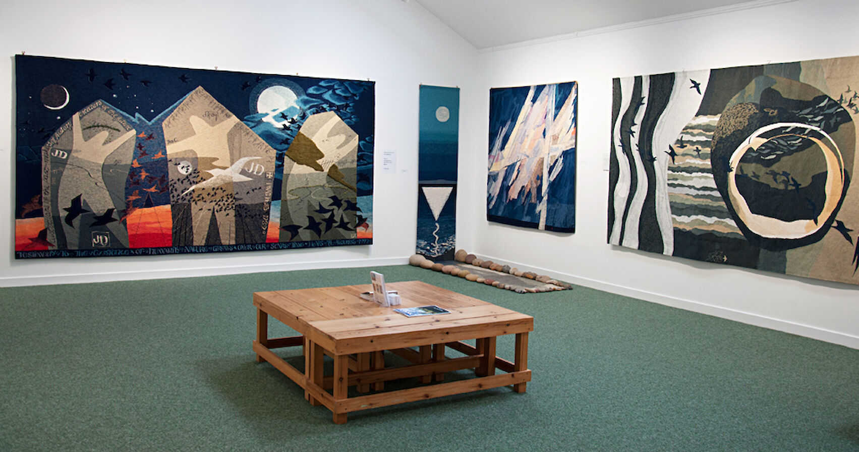 Inside the Hoxa Tapestry Gallery, Orkney