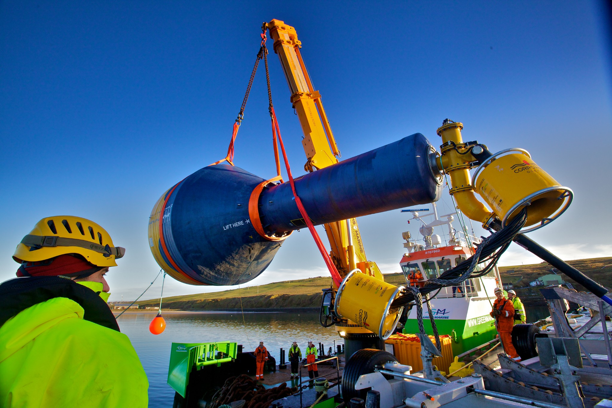 Corpower device deployment in Scapa Flow, Orkney - image by Colin Keldie