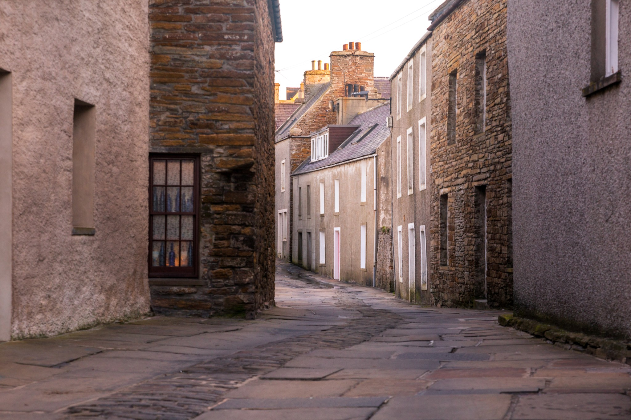 View along the street, Stromness
