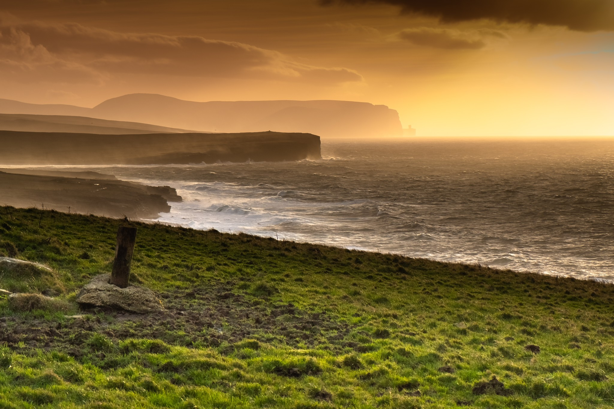 View along Orkney's west coast - image by Dave Neil