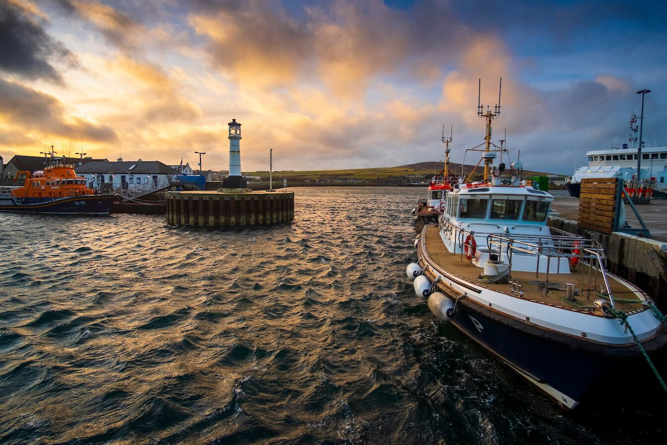 Kirkwall harbour - image by Dave Neil