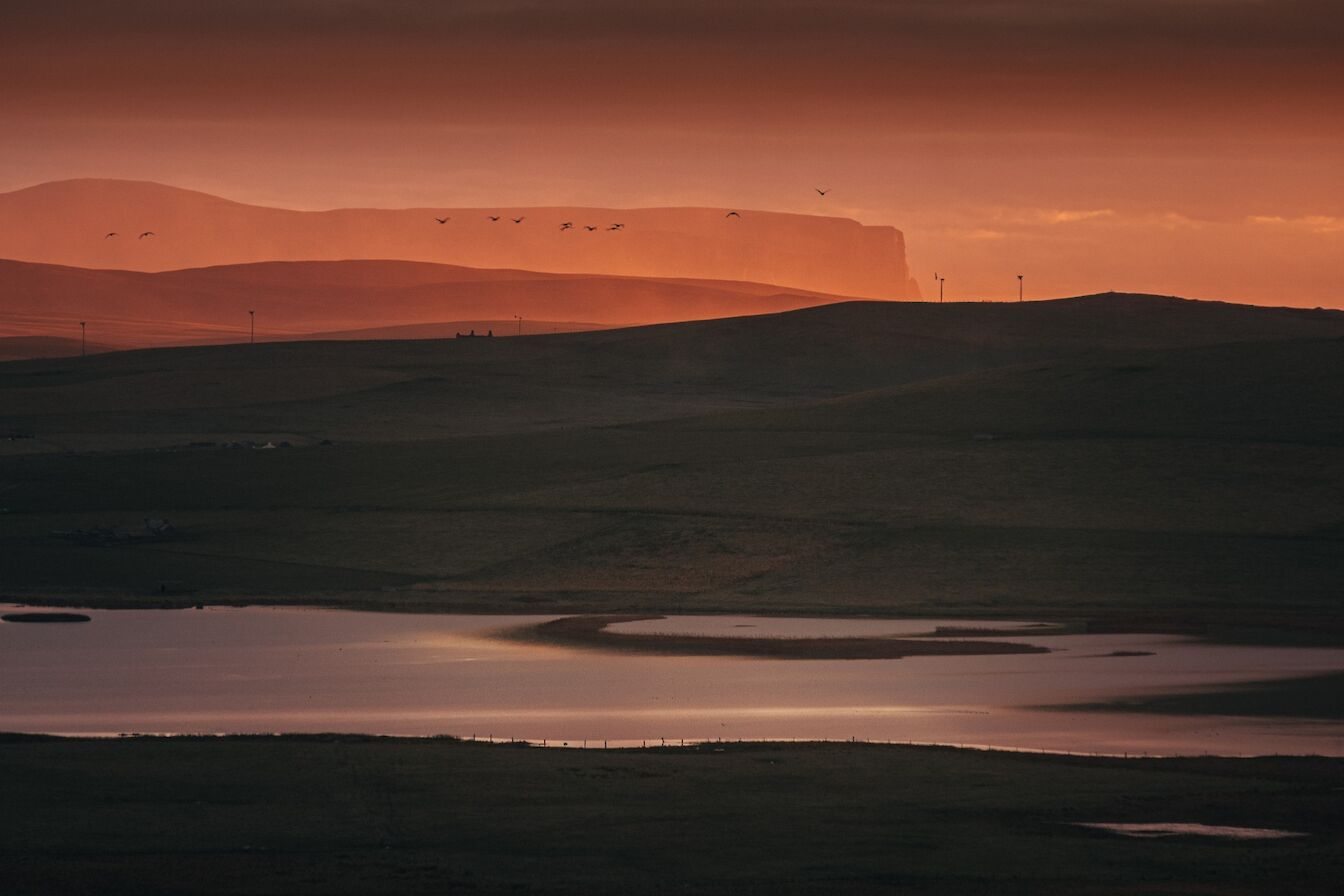 Sunset from Marwick - image by Dave Neil