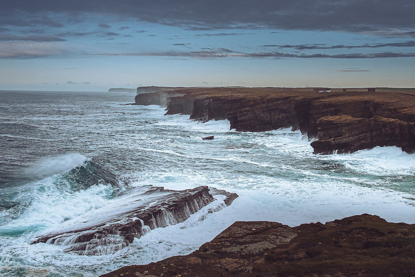 Cliffs at Yesnaby - image by Dave Neil