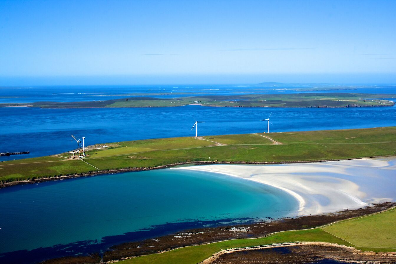 Aerial view of Sanday