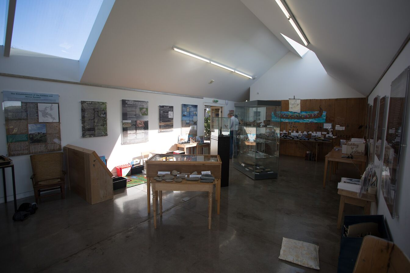 Inside the Westray Heritage Centre