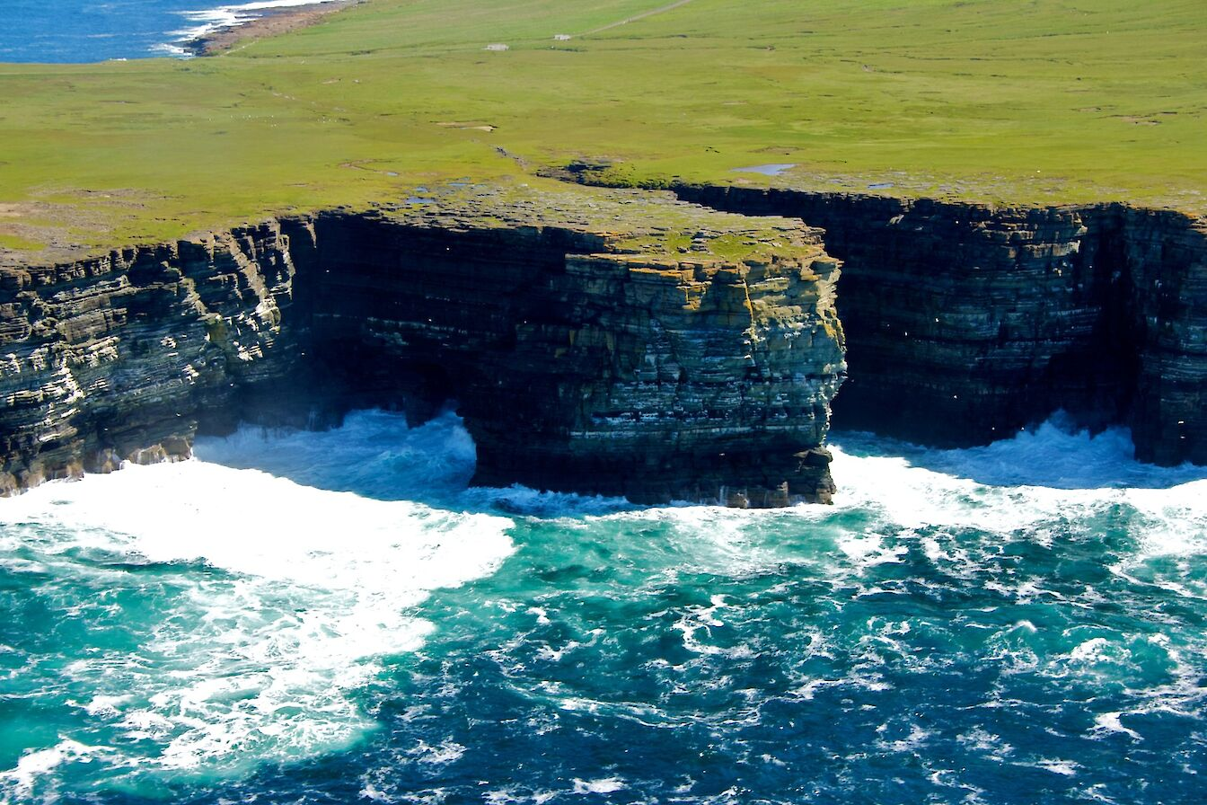 The cliffs at Noup Head, Westray