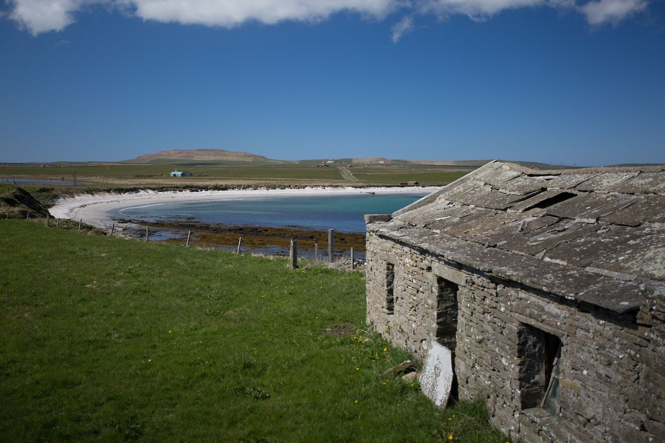 View from a derelict croft, Westray