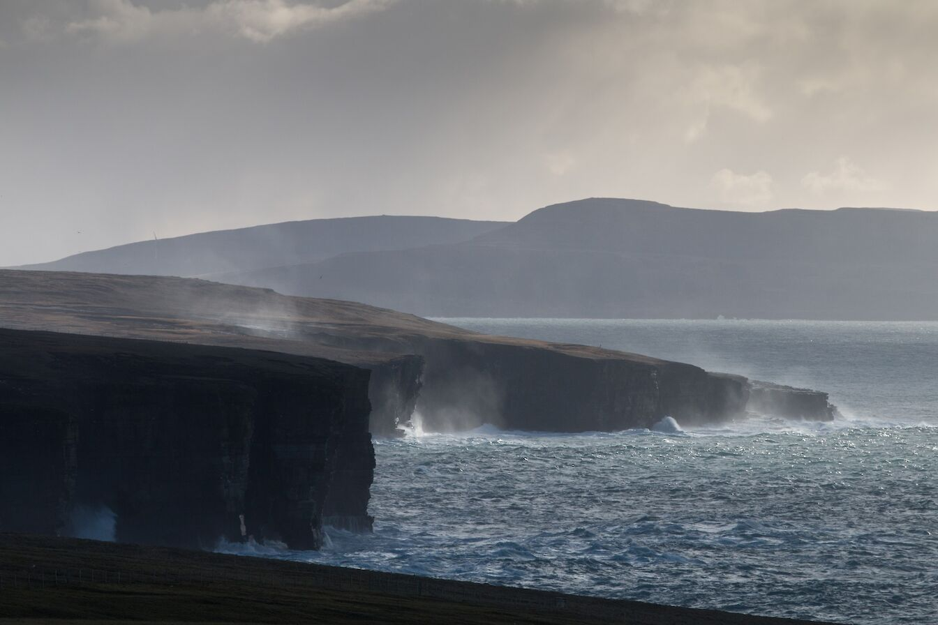 The westside cliffs in Westray