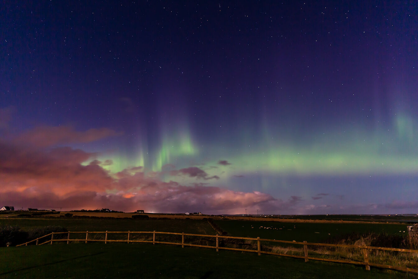 Merry dancers over South Ronaldsay, Orkney - image by Dawn Underhill