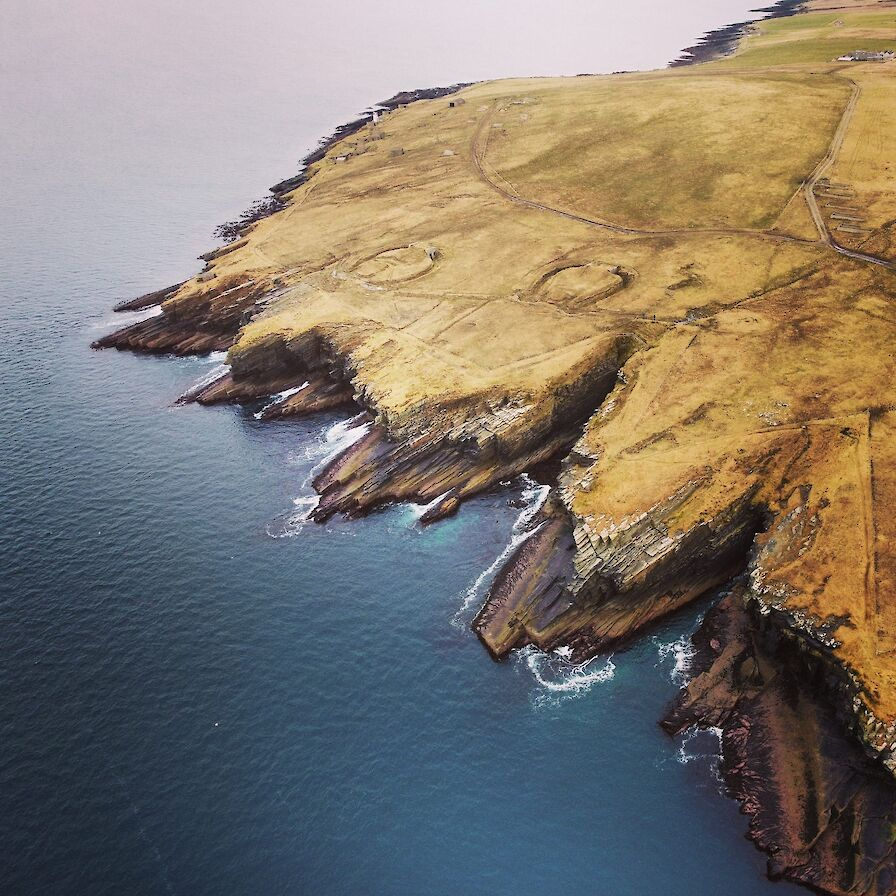 Orkney coastline at Hoxa Head - image by Scott Desmond