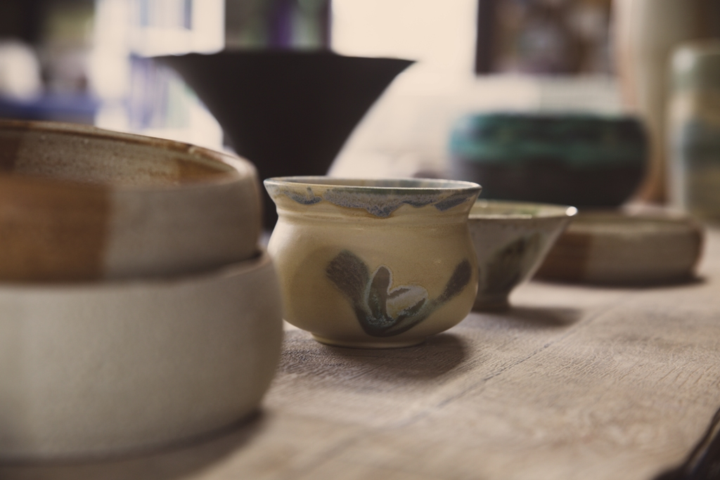 More of the beautiful pieces of pottery Elaine creates in Orkney