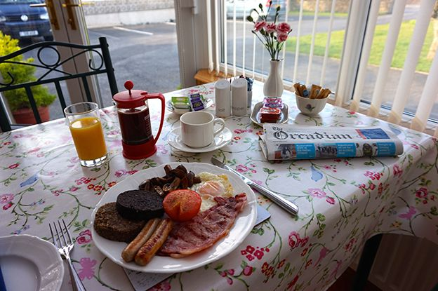 A delicious home-cooked breakfast at Karrawa Guest House