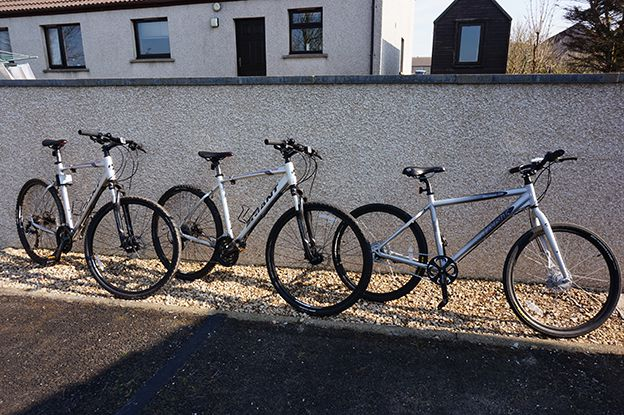 Bikes are available for hire so guests can explore Orkney