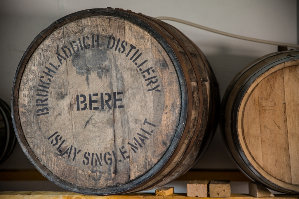 The Bere Malt Vinegar is aged in these oak barrels to help its flavour develop
