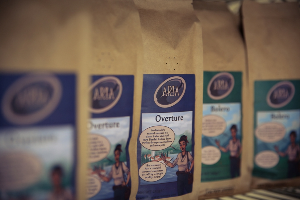 Overture and Bolero, part of the Roastery's Aria range.