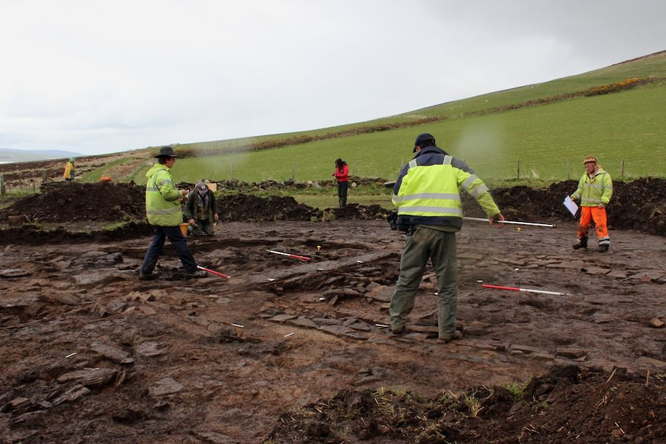 Investigations underway at a rainy Smerquoy - the team will be hoping for sunnier weather this year!