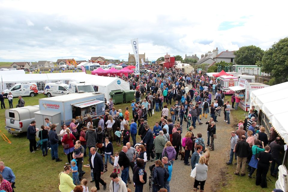 The County Show in Kirkwall always attracts the crowds