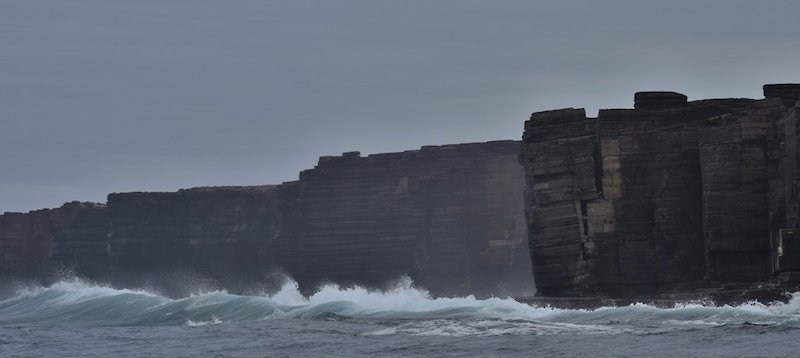 The imposing cliffs of Westray in Orkney - image by David Gange