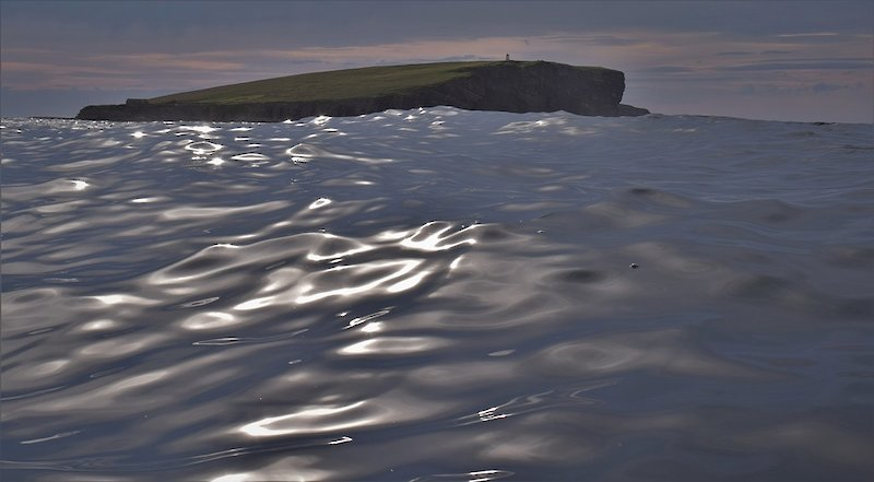 The soft, smooth swell of the sea at the Brough of Birsay in Orkney - image by David Gange