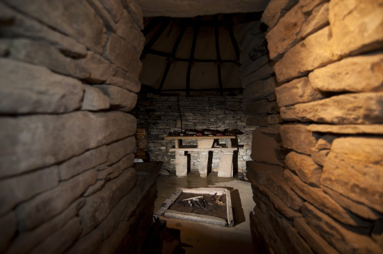 Visitors will get a unique view inside one of the houses at Skara Brae - image courtesy Historic Environment Scotland
