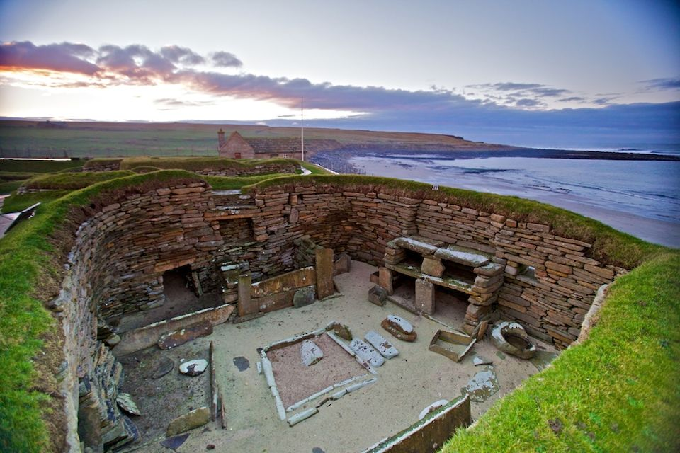 A view over one of the houses at Skara Brae in Orkney - image by Colin Keldie