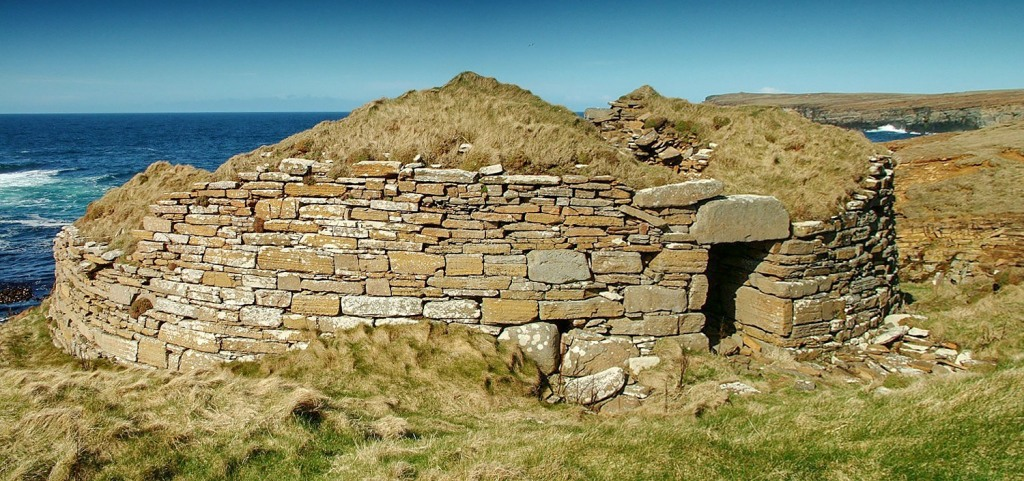 Parts of the exterior of the broch are still in relatively decent condition - image by Sigurd Towrie