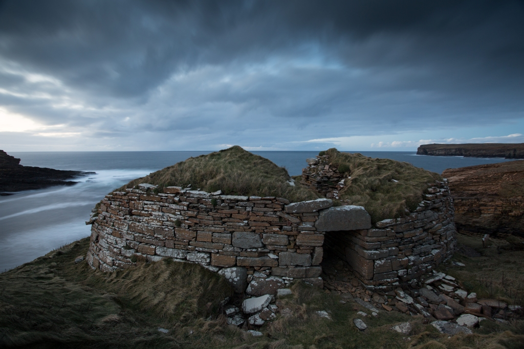 The building sits in a sometimes wild and windy spot, exposed to the strongest Orkney elements
