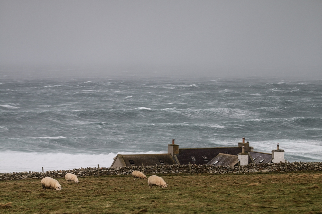 Storm Caroline brought wild weather to the islands, but Richard's neighbours helped him adapt
