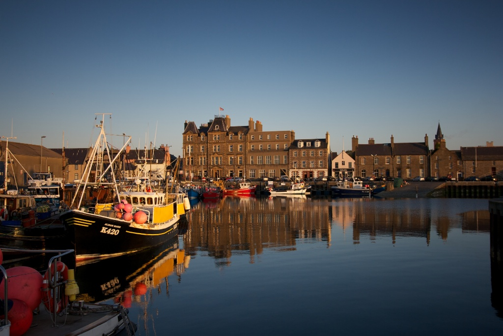 Kirkwall's harbourfront. Althouhg Orkney's biggest town, it's still small enough to meet someone you know every time you head down the street - image by Colin Keldie