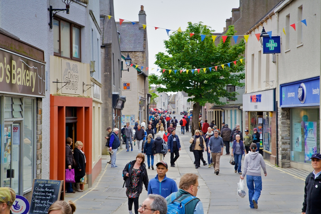 Albert Street in Kirkwall, Orkney - image by Colin Keldie