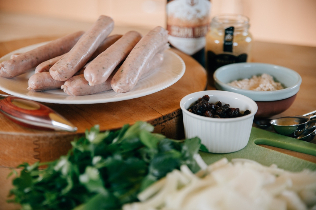 The finest Orkney beer and sausages make up this delicious recipe