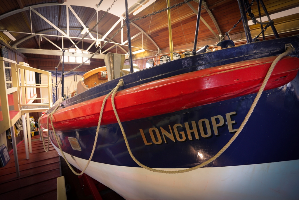 The Thomas McCunn lifeboat, which was in service until 1962 and is housed in the museum