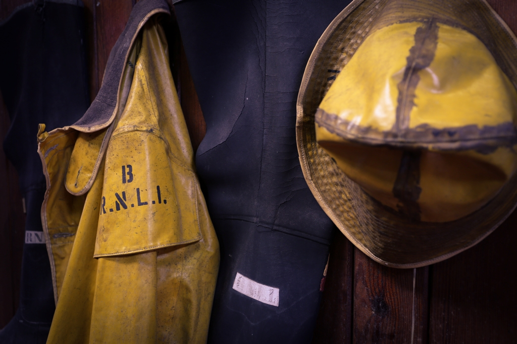 Some of the RNLI artifacts on display in the museum