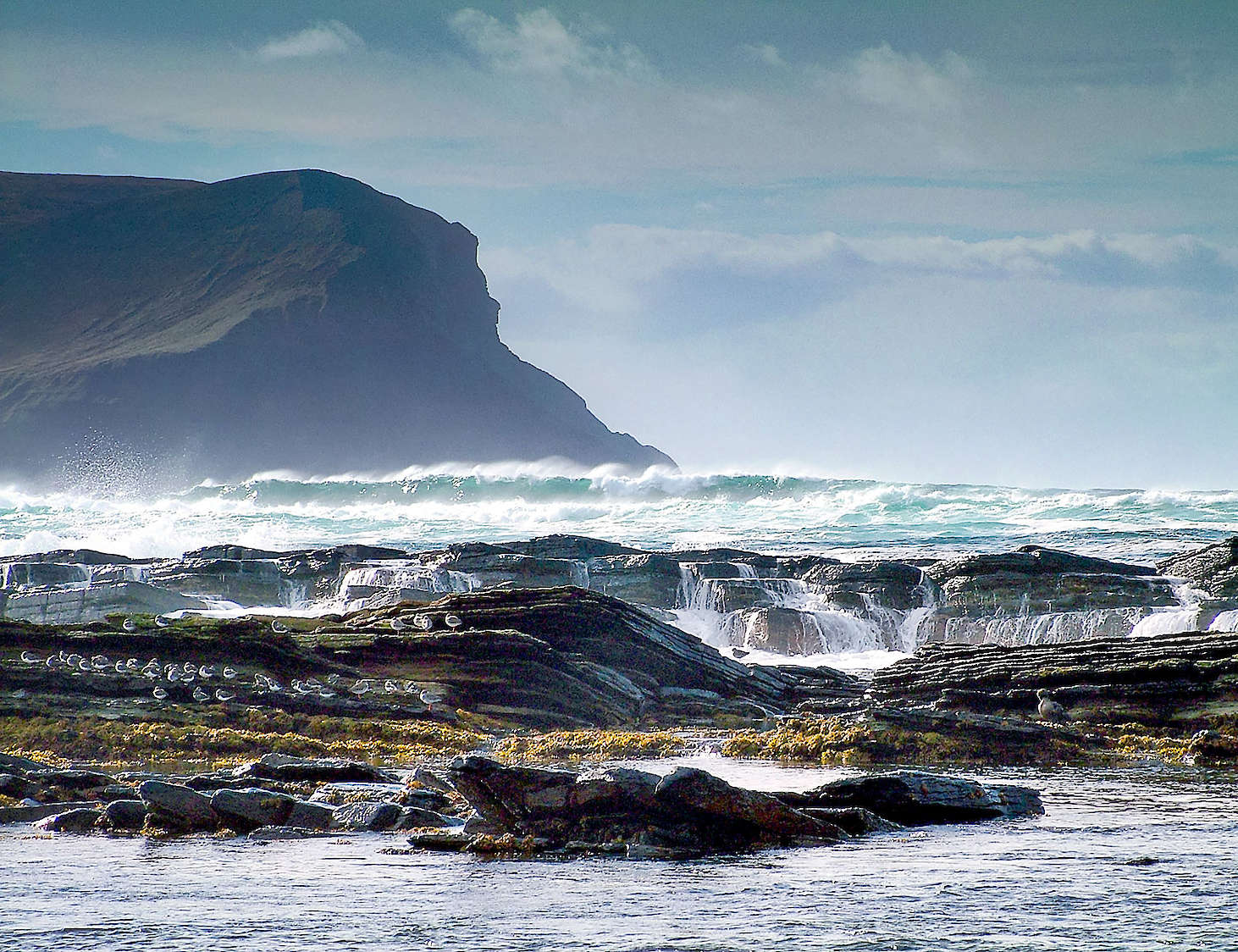 Rolling waves at Warebeth, Orkney - image by Sigurd Towrie