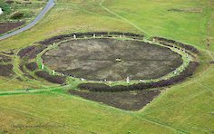 The Ring of Brodgar in Orkney's World Heritage Site.