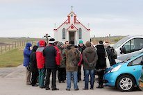 Eighteen tour guides of the future continue their training at Orkney's iconic Italian Chapel.