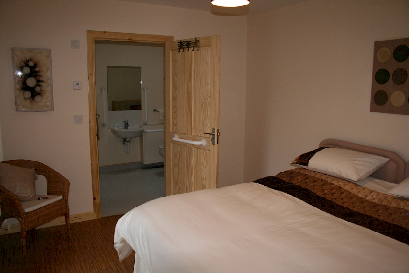 Ensuite bedroom access to disabled friendly bathroom shower room