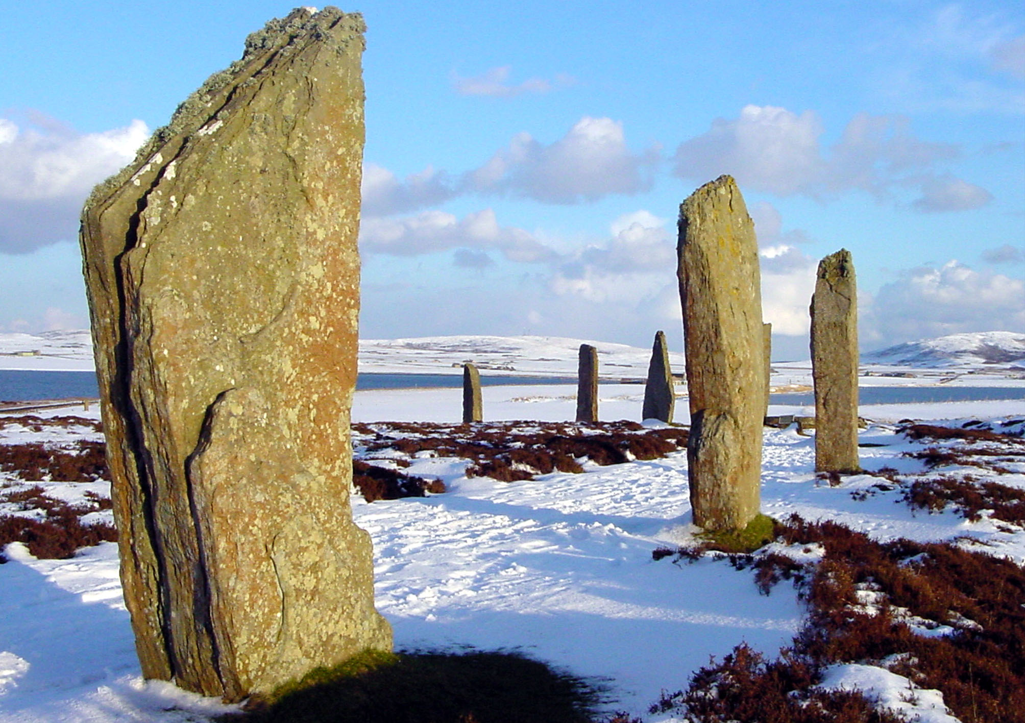 The Ring of Brodgar in winter