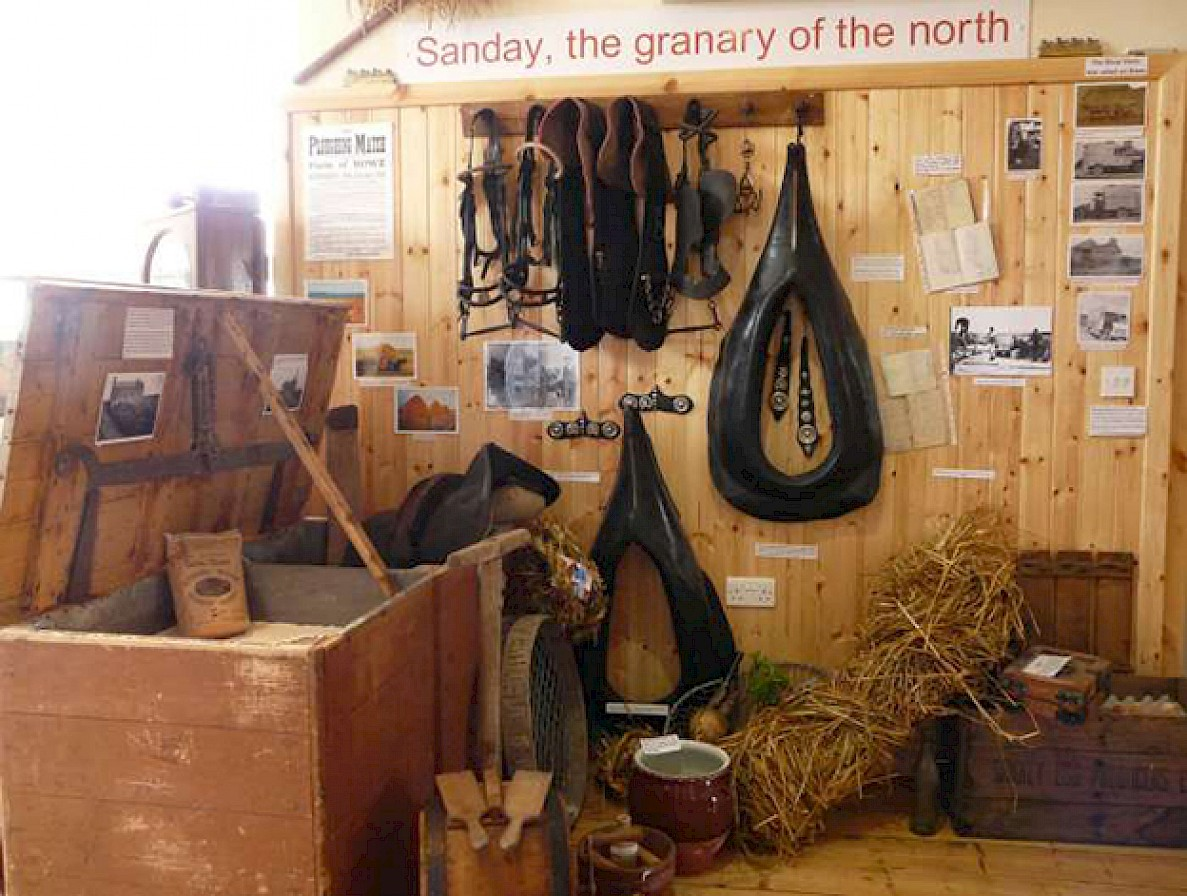 Inside the Sanday Heritage Centre