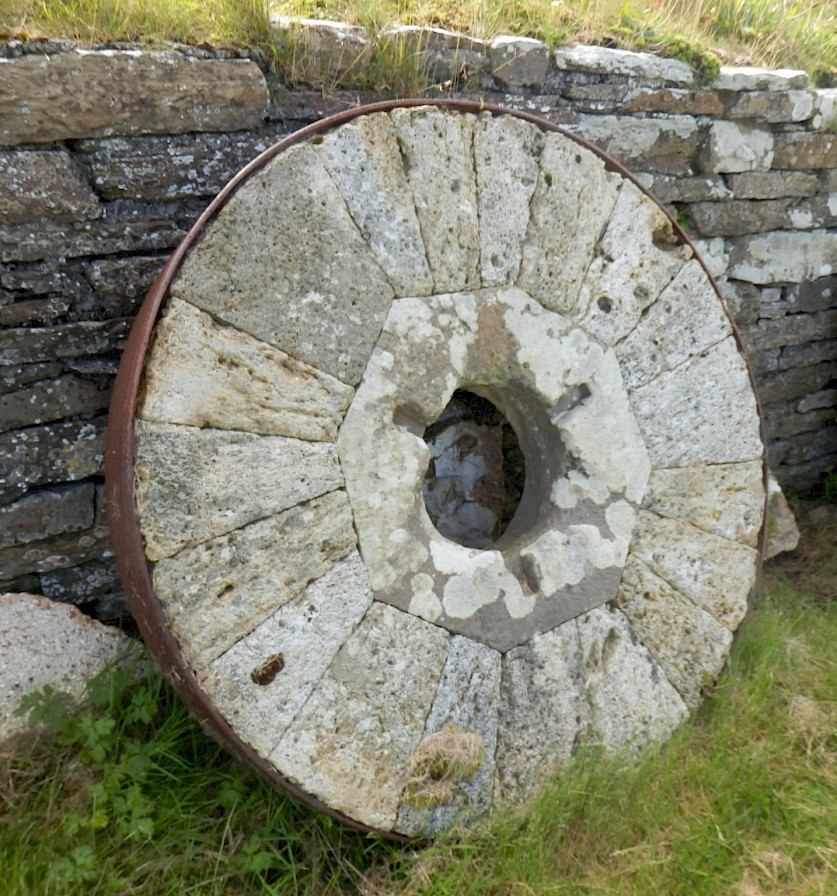 Old milling stone at the Barony Mill
