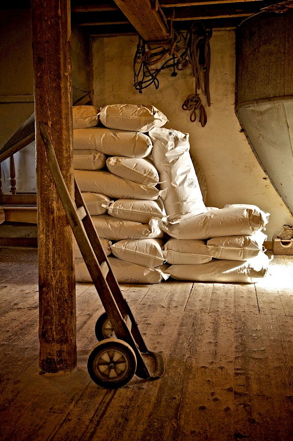 Inside the Barony Mill - image by Colin Keldie