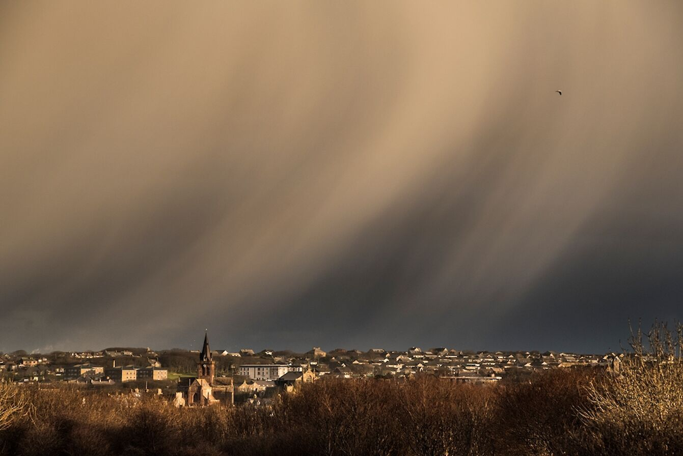 Winter skies over Kirkwall - image by James Grieve