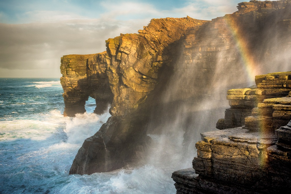 The Rousay coastline - image by James Grieve