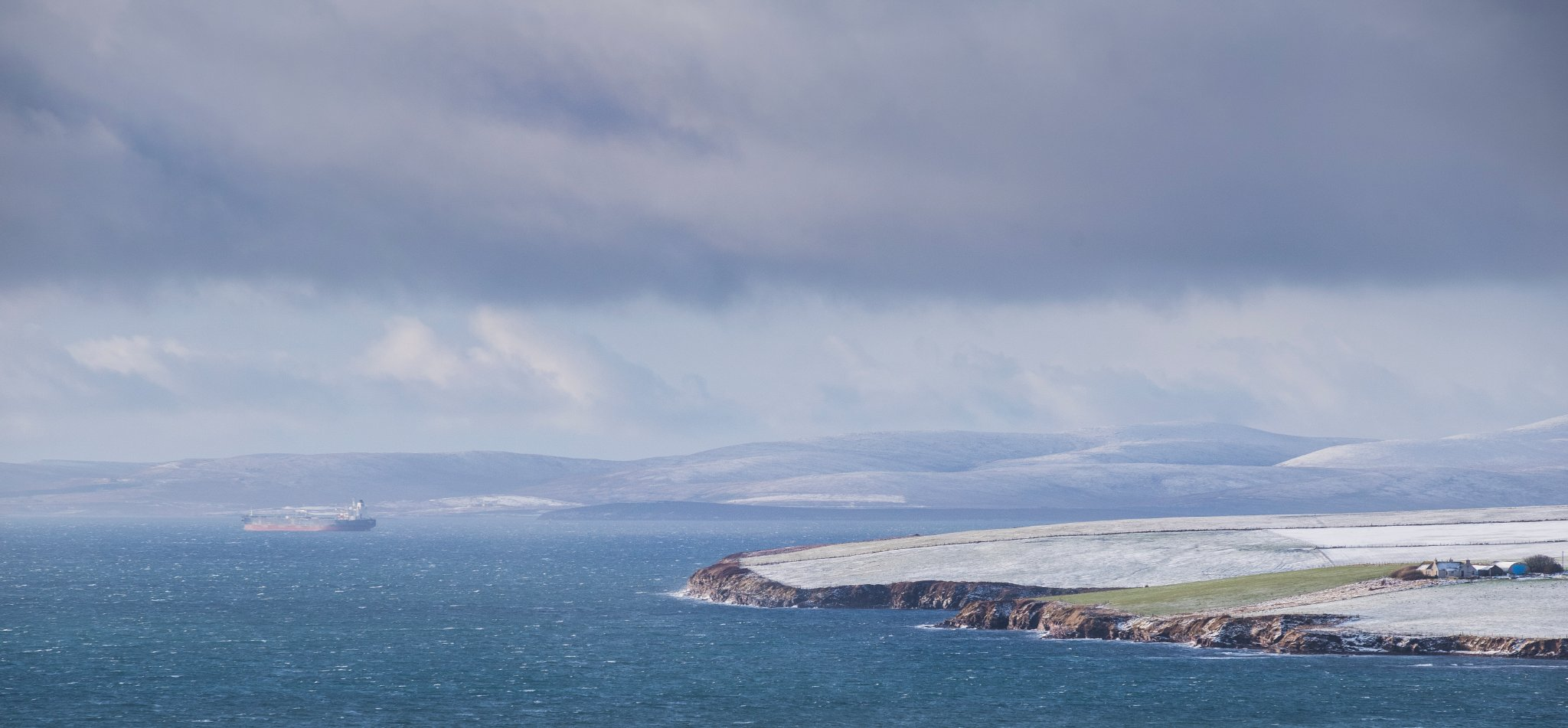 Winter view over Scapa Flow, Orkney - image by James Grieve