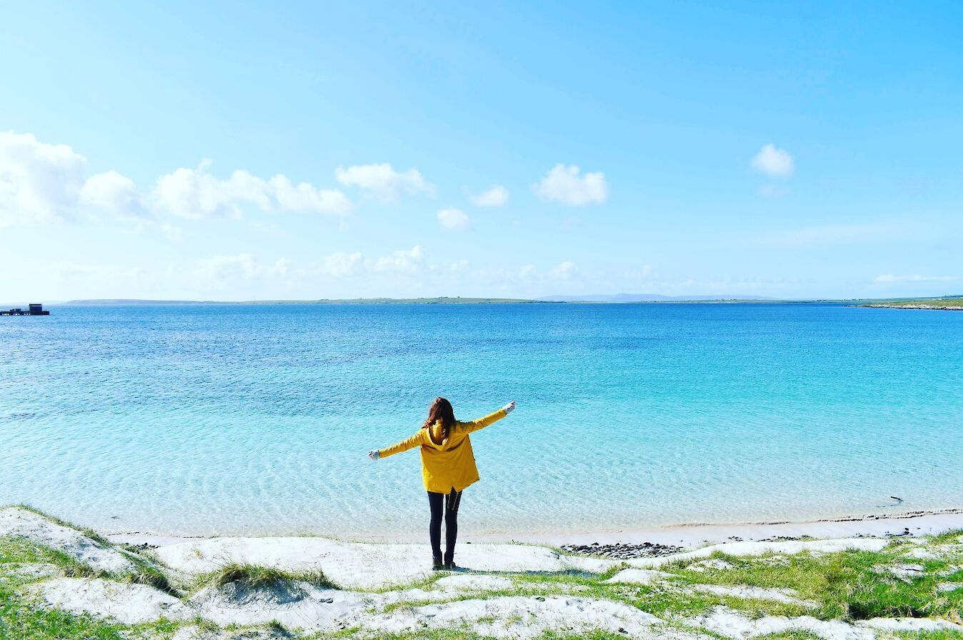 Beach views in Westray - image by Isobel Thompson