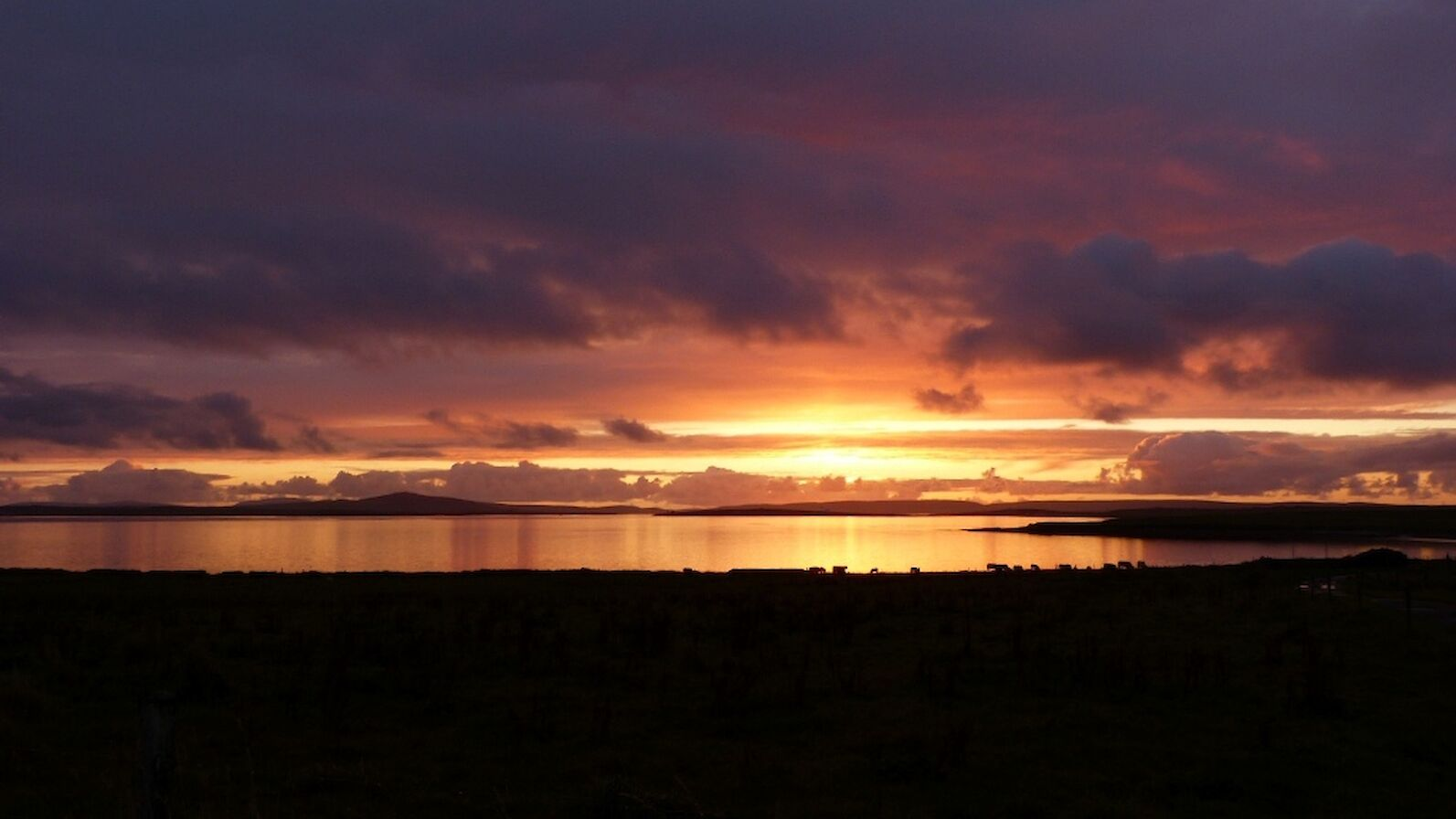 Shapinsay sunset - image by Sheila Garson