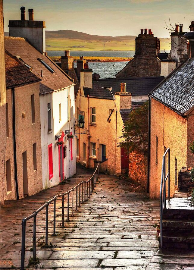 An old Stromness street - image by Glenn McNaughton