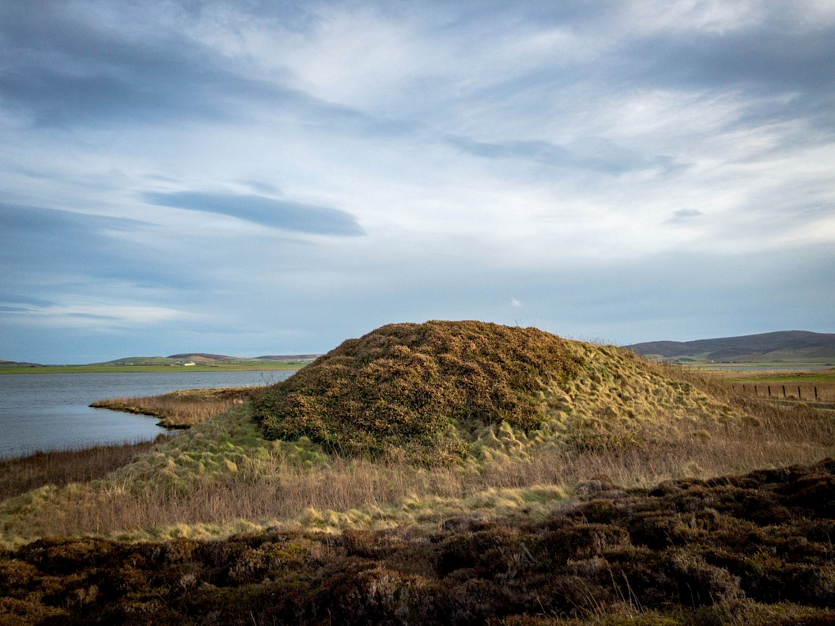 Fresh Knowe, one of the largest mounds around the Ring of Brodgar - image by Sigurd Towrie