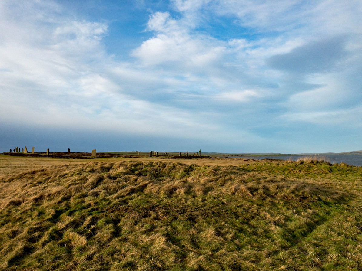 The Ring of Brodgar as seen from the Bronze Age barrows - image by Sigurd Towrie