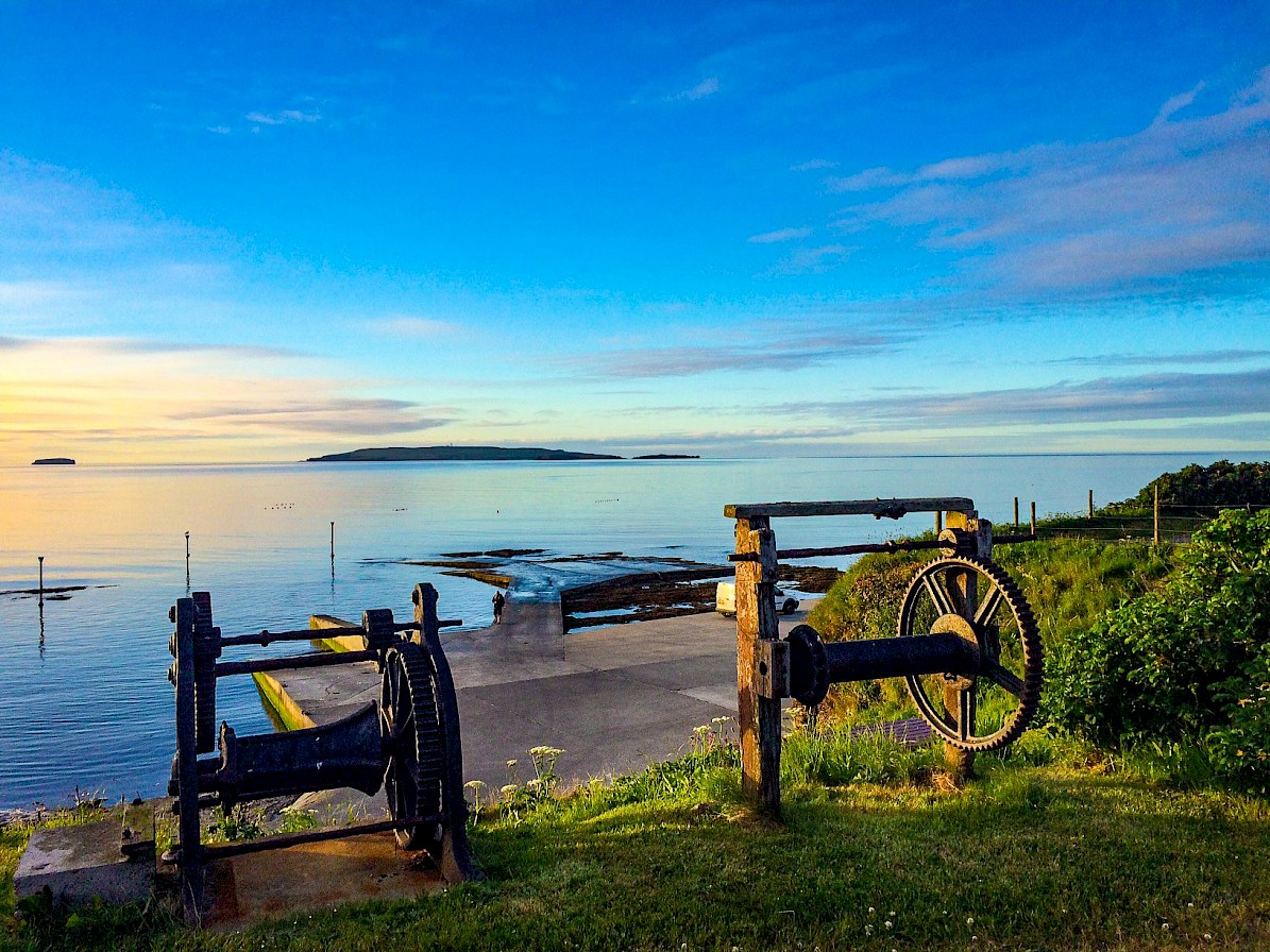 View towards Copinsay from the Geo, Deerness - image by Graham Campbell
